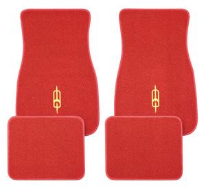 1961-77 Cutlass/442 Floor Mats, Carpet Matched Oem Style Rocket Emblem