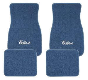 "1961-1977 Cutlass Floor Mats, Carpet Matched Oem Style ""Cutlass"" Script, by ACC"