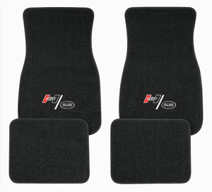 1961-1977 Cutlass Floor Mats, Carpet Matched Oem Style Hurst Olds Emblem, by ACC