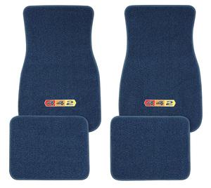 "1961-1977 Cutlass Floor Mats, Carpet Matched Oem Style ""4-4-2"" Emblem, by ACC"