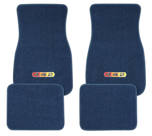 "1961-77 Cutlass Floor Mats, Carpet Matched Oem Style ""4-4-2"" Emblem"