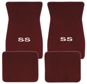 "1978-88 Malibu Floor Mats, Carpet Matched Oem Style Carpet ""SS"" Logo"