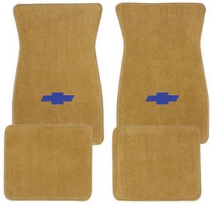 1978-1983 Malibu Floor Mats, Carpet Matched Oem Style Carpet (Acc) Blue Bowtie