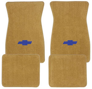 1978-88 Malibu Floor Mats, Carpet Matched Oem Style Carpet (Acc) Blue Bowtie