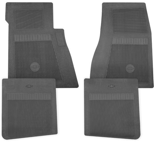 Restoparts 1964 77 chevelle floor mats chevy bowtie for Ccp flooring