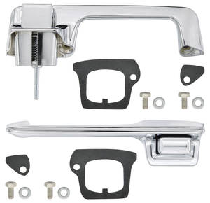 1967-1968 Cadillac Door Handle Kit, Outside Front (2-Door Coupe & Convertible, Except Eldorado), by RESTOPARTS