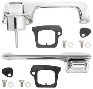1969-70 Cadillac Door Handle Kit, Outside Front (2-Door Coupe & Convertible, Except Eldorado)