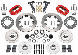 "1954-55 Cadillac Brake Kit, Front 11.75"" (Forged Dynalite Pro Series) - with Plain Rotors, by Wilwood"