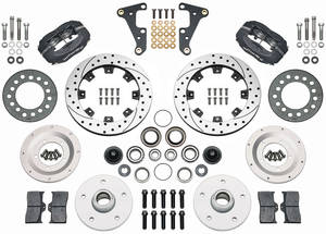 "1954-1955 Cadillac Brake Kit, Front 11.75"" (Forged Dynalite Pro Series) - with Drilled/Slotted Rotors, by Wilwood"