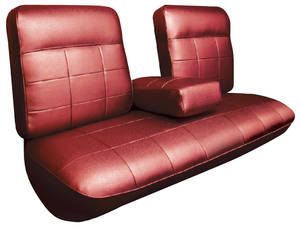 Cadillac Seat Upholstery, 1963 DeVille (Front Split Bench with Armrest)