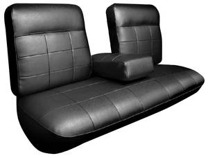 Cadillac Seat Upholstery, 1963 DeVille (Front Split Bench with Armrest & Rear Seat) Coupe
