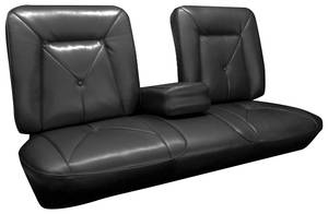Cadillac DeVille Seat Upholstery, 1965 (Front Split Bench with Armrest & Rear Seat with Armrest) Coupe