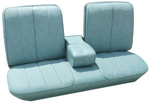 Cadillac Seat Upholstery, 1966 DeVille (Front Split Bench with Armrest), by PUI