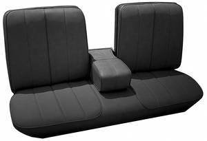 Cadillac Seat Upholstery, 1966 DeVille (Front Split Bench with Armrest & Rear Seat) Convertible