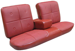 Cadillac Seat Upholstery, 1967 DeVille (Front Split Bench with Armrest)
