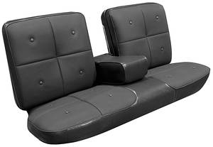 Cadillac Seat Upholstery, 1967 DeVille (Front Split Bench with Armrest & Rear Seat with Armrest) Coupe