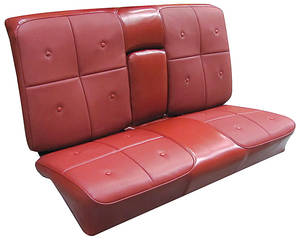 Cadillac Seat Upholstery, 1967 DeVille (Rear Seat with Armrest) Coupe