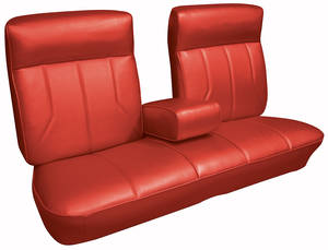 Cadillac Seat Upholstery, 1969 DeVille (Front Split Bench with Armrest)