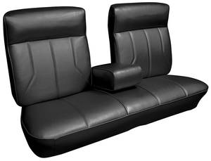 Seat Upholstery, 1969 DeVille (Front Split Bench with Armrest & Rear Seat) Convertible