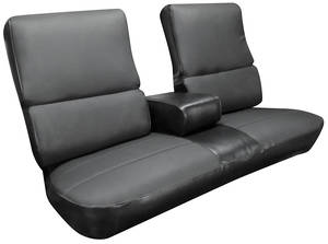 Cadillac Seat Upholstery, 1970 DeVille (Front Bench with Armrest)
