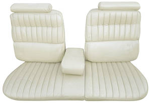 Seat Upholstery, 1973-74 Eldorado (Front Split Bench with Armrest & Rear Seat) Convertible