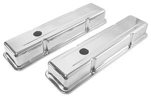 1978-88 El Camino Valve Covers, One-Hole Chrome 283-400