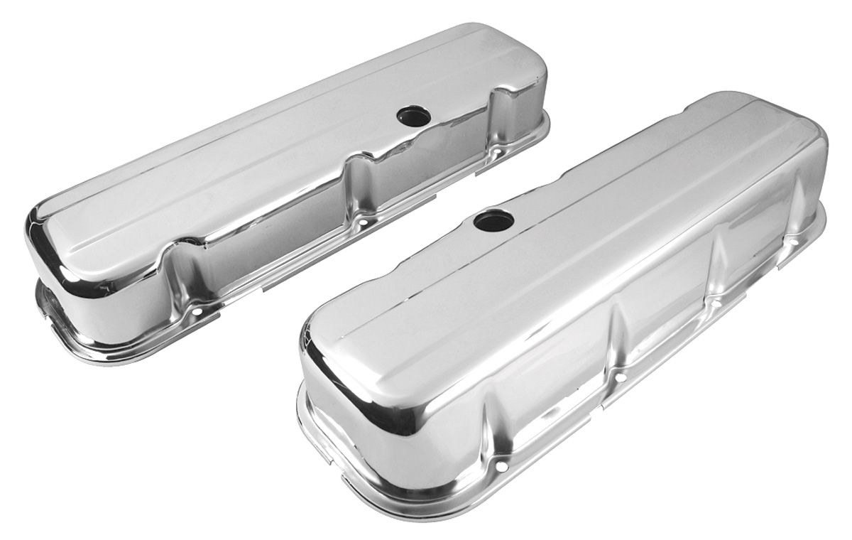 Photo of Valve Covers, Stamped Steel Chrome Big-Block tall