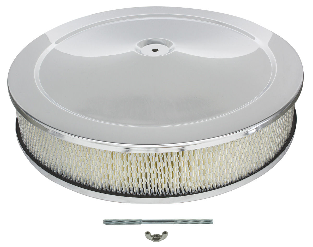 "Photo of Air Cleaner, 14"" Chrome"