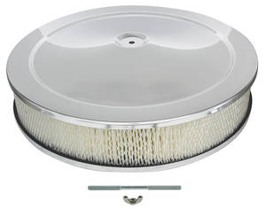 "1959-77 Grand Prix Air Cleaner, 14"" Chrome"