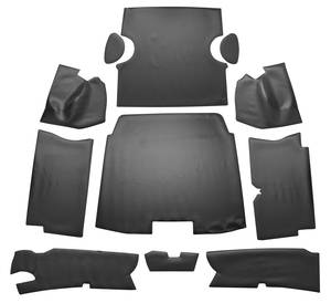 1959 Cadillac Trunk Compartment Mat Kit (Coupe DeVille - Black Vinyl) Eleven-Piece