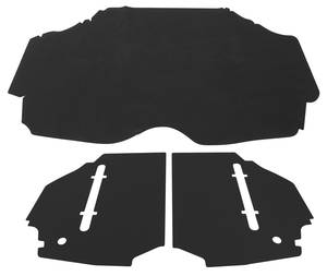 1969-1969 Cadillac Trunk Compartment Mat Kit (DeVille Convertible - Bend Board & Felt) Three-Piece
