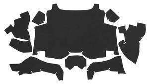 1969 Cadillac Trunk Compartment Mat Kit (Eldorado - Black Felt) Eight-Piece
