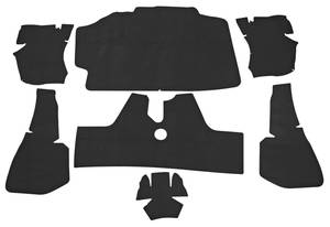 1975-76 Cadillac Trunk Compartment Mat Kit (Eldorado Hardtop - Black Felt) Eight-Piece