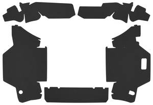 1963-1963 Cadillac Trunk Compartment Board Kit (Except Convertible & Commercial Chassis) Five-Piece