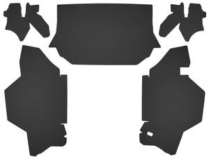 1965-1966 Cadillac Trunk Compartment Board Kit (Convertible) Five-Piece