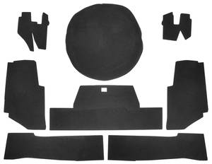 1971-72 Cadillac Trunk Compartment Board Kit (Convertible) Eight-Piece