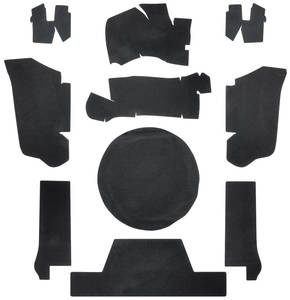 1973-1973 Cadillac Trunk Compartment Board Kit (Convertible) Ten-Piece