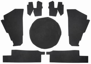 1974-1976 Cadillac Trunk Compartment Board Kit (Convertible) Seven-Piece