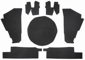 1974-76 Eldorado Trunk Compartment Board Kit (Convertible) Seven-Piece
