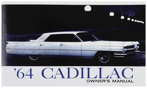 1964 Cadillac Owners Manual, Authentic