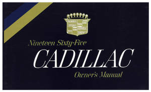1965 Cadillac Owners Manual, Authentic