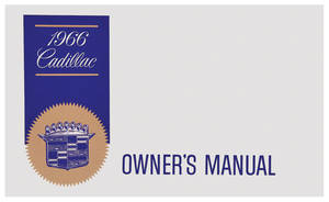 1966-1966 Cadillac Owners Manual, Authentic