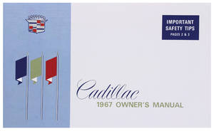 1967 Cadillac Owners Manual, Authentic
