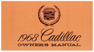 1968 Cadillac Owners Manual, Authentic