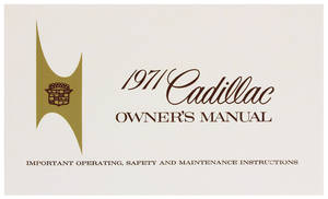 1971-1971 Cadillac Owners Manual, Authentic