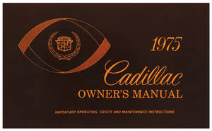 1975 Cadillac Owners Manual, Authentic
