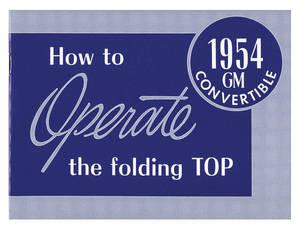 1954-1954 Cadillac Convertible Top Manual (Except Fleetwood)