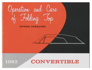 1962 Cadillac Convertible Top Manual