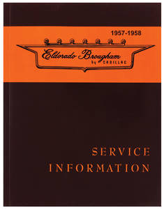 1957-1958 Cadillac Chassis & Shop Service Manual - Supplement To 1957 (Eldorado Brougham)