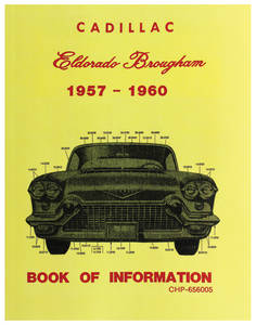1957-60 Cadillac Chassis & Shop Service Manual - Reference Manual Supplement (Eldorado Brougham)